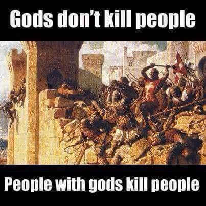 Gods dont kill people people with gods kill people